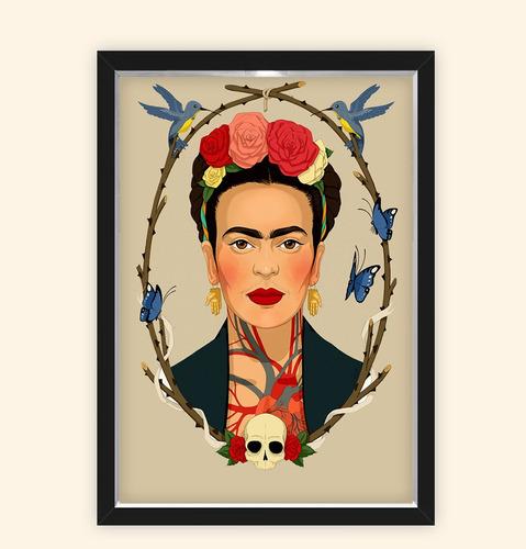 Quadro Caixa 23x33cm Frida Caveira