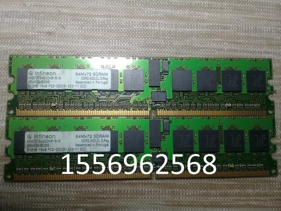 Infineon 512mb 1rx8 Pc2-3200r-333-11 Ecc