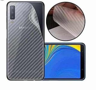 Pelicula Traseira Verso Fibra De Carbono Samsung Galaxy A10