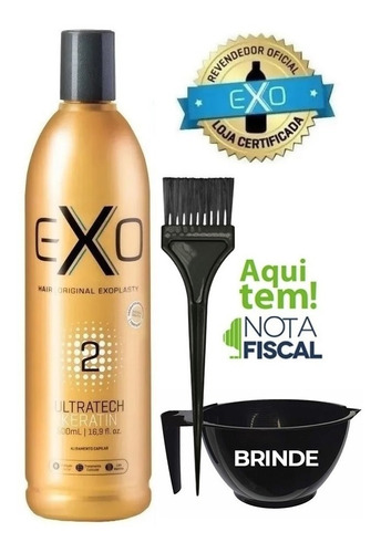 Imagem 1 de 9 de Exoplastia Capilar Exo Hair Keratin 500ml Passo 2 + Brinde!