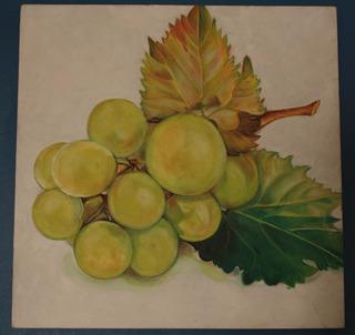 Cuadro Al Óleo (uvas)