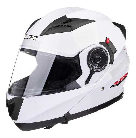 Capacete para moto escamoteável Texx Gladiator branco S