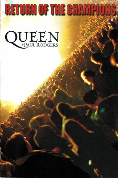 Dvd Queen & Paul Rodgers - Return Of The Champions (lacrado)