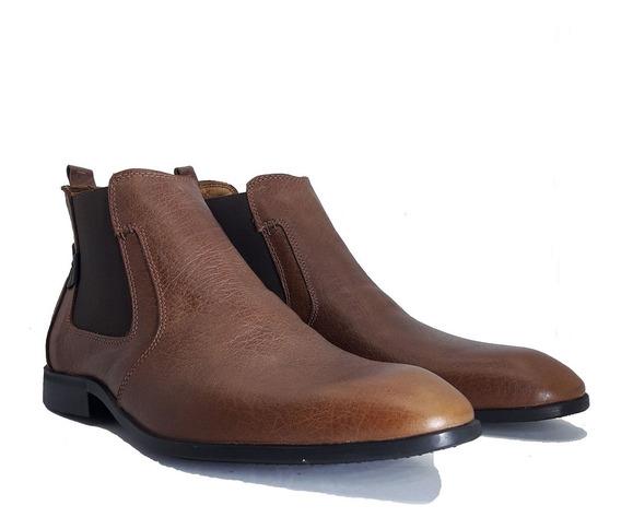 Botas Hombre Cuero Borcegos Elastico Zapatos Marcos Tibay