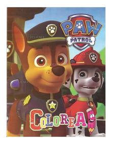 Libros Colorear Paw Patrol 5 16 Pg Recuerdos Fiesta Infantil