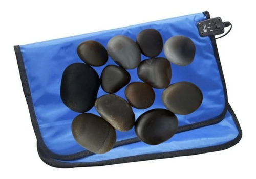 Kit Pedras Quentes Ágata + Manta Aquecimento Voltagem 220v