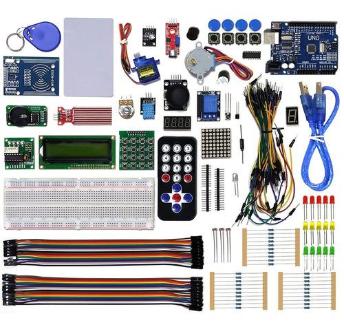 Imagem 1 de 10 de Kit Robótica Placa Uno C/ Tutorial Para Arduino + 200 Pcs Nf
