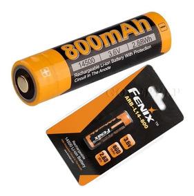 02 Baterias Fenix 14500 800mah 3,6 V Recarregavel Li-ion