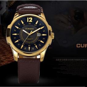 Reloj Lujo Hombre Curren Moda Caballero Oro Contra Agua 8123