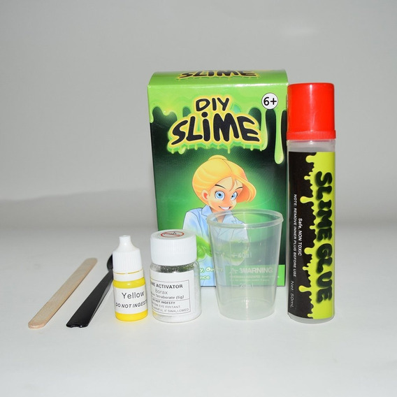 Diy Kit Slime Fluffy Crystal Gliter Pó Cola Jogar Jogo Para