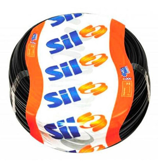 Cabo Flexivel Sil 6mm 750v Rolo 50m