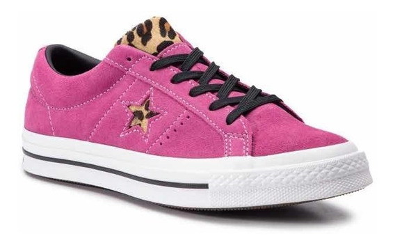 Converse One Star Ox Fucsia Con Animal Print ¡ Últimas !