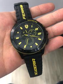 Relógio Scuderia Ferrari Masculino Borracha Preta - 830139