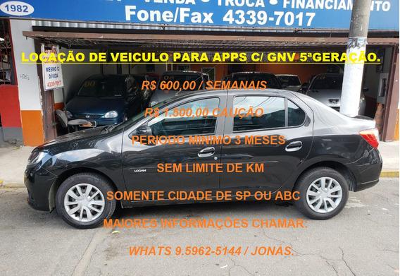 Locação Veiculo P/ App C/ Gnv 5º Geração 15m3 R$ 600,00