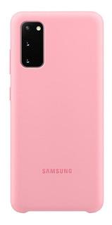 Capa Protetora Silicone Rosa Samsung Galaxy S20