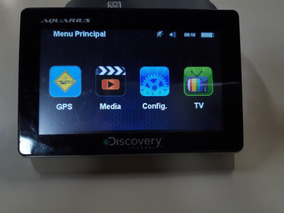 Gps Discovery Channel Aquarius S/ Acessórios C/ Tv Digital