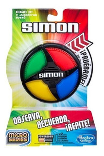 Juego De La Memoria Simon Micro Series Ideal Viajes Hasbro