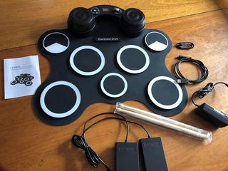 Bateria Digital Drum G3003 Pedalin Palillos Y Cables