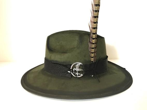 Sombrero Exlorer Verde Militar Suede Gamuza Textil