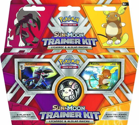 Pokemon Lycanroc & Alolan Raichu Sun & Moon (con Detalle)