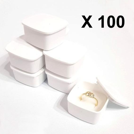 100 Caja Plástica Para Anillo 811b