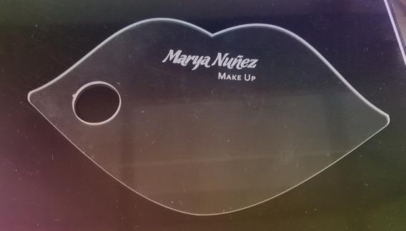 Paleta Mezcladora Maquillaje Acrílico 10 X 15 Cm Con Logo