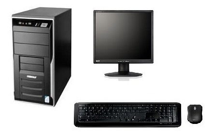 Imagem 1 de 4 de Cpu Completa 4gb  + Monitor 17 + Placa De Video 1gb
