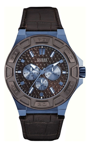 Relógio Masculino Guess Couro Marrom 92587gpgsec4 C/ Nfe