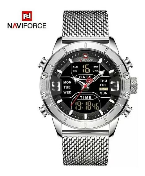 Relógio Naviforce Digital Análogo Aço Inoxidável