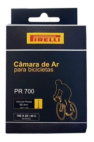 Câmara De Ar Pirelli Aro 700 X 28/45c Válvula Presta 60mm
