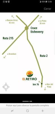 Vendo Lote 1000m2 Ecobarrio El Retiro. Ruta 2 Brandsen