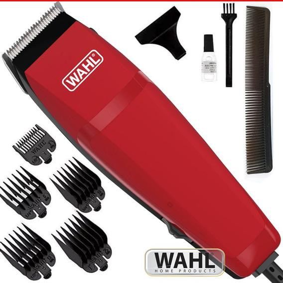 Kit Máquina Cortar Cabelo Barba Wahl Easy Cut Vermelha 110v