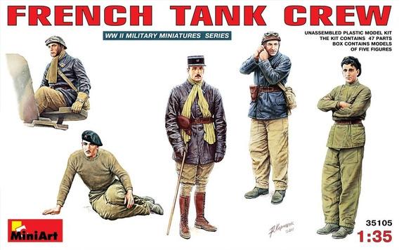 Wwii French Tank Crew - 1/35 Miniart 35105