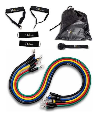 Kit Set 5 Bandas Elasticas Manijas Latex Ejercicio Fitness