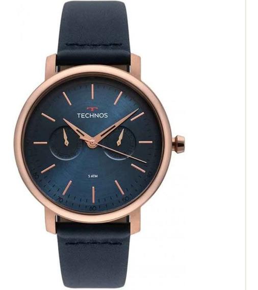 Relógio Technos Couro Masculino 6p25bs/2a