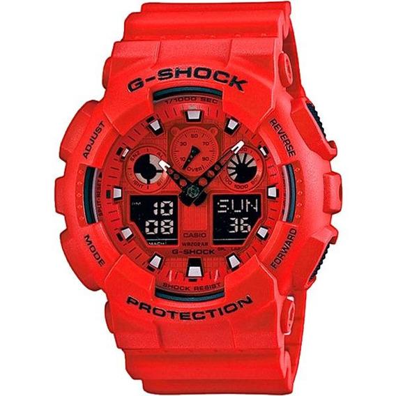 Relógio Casio G-shock Ga-100c-4adr Resistente A Choques Nf