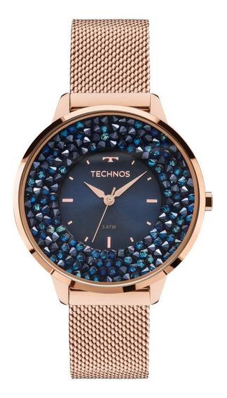 Relógio Feminino Technos Crystal Swarovski 2035mle/4a