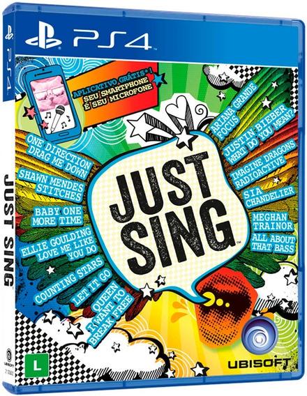 Just Sing Ps4 Mídia Física Novo Lacrado