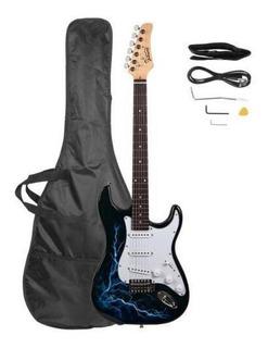 Black - Nueva Glarry 4 Color Tilo 22 Trastes Guitarra E-5212