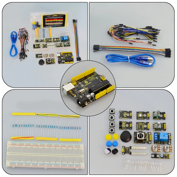 Kit Arduino K4 +joystick+rgb Led+19projects +uno R3 +adl345