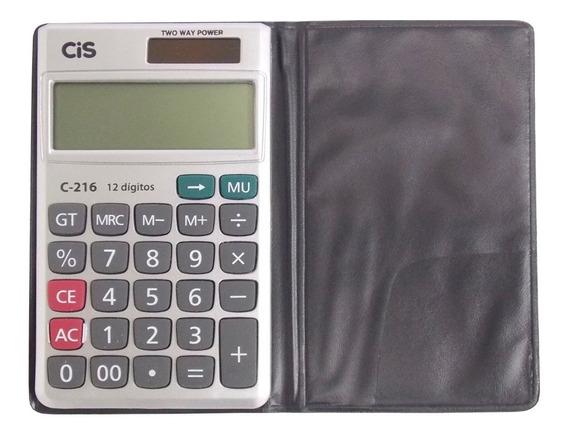 Calculadora De Bolso 12 Digitos C-216 C/ Capa Cis