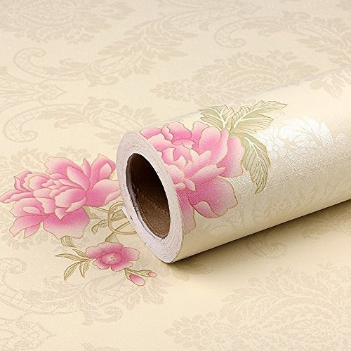 Simplelife4u Pink Peony Contact Paper Extraible Vinilo Dama