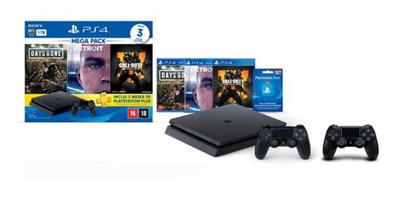 Console Playstation 4 Slim 1tb Hits Bundle V5.1 + Controle D