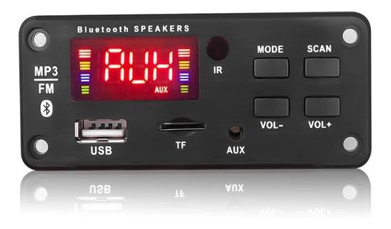 1 Placa Decodificador Bluetooth 3.0 Mp3 Fm 12v 32gb Usb Sd