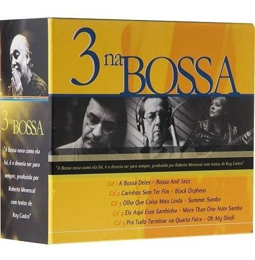 3 Na Bossa - Box 5 Cds - Novo Original E Lacrado
