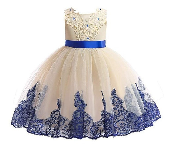 Vestido 2 A 9 Años Fiesta Boda Graduación Aimjch Xv Azul