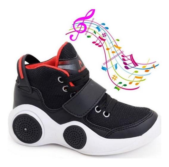 Tênis Musical Bluetooth Masculino Preto/vermelho