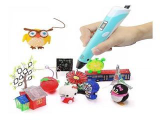 Lápiz 3d Pen / Pluma / Lapicero Dibujo 3d +12 Filamentos