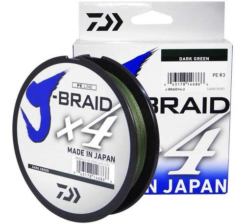 Imagem 1 de 1 de Linha Multifilamento J-braid X4 0,25mm 30lb 270m - Daiwa