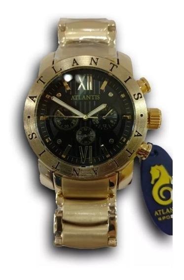 Relógio Atlantis A3310 Aço Inox Luxo